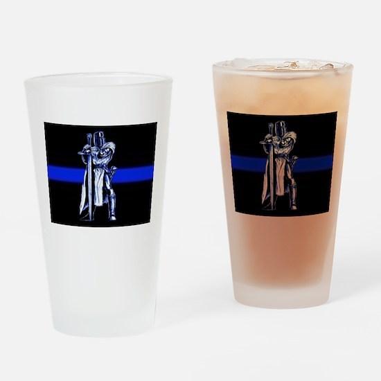 Freemason Templar Thin Blue L Drinking Glass
