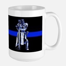 Freemason Templar Thin Blue L Large Mug
