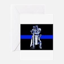 Freemason Templar Thin Blue L Greeting Card