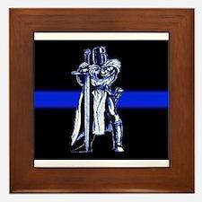 Freemason Templar Thin Blue L Framed Tile