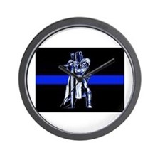 Freemason Templar Thin Blue L Wall Clock