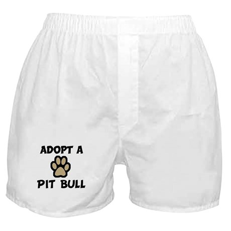 Adopt a PIT BULL Boxer Shorts