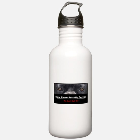 Cane Corso Security Service Water Bottle