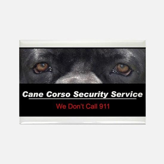 Cane Corso Security Service Rectangle Magnet