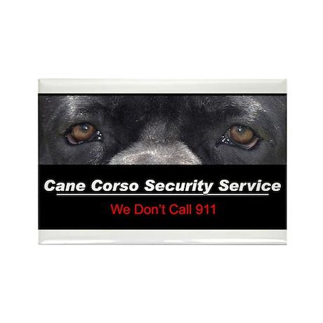 Cane Corso Security Service Rectangle Magnet (10 p
