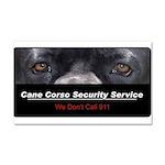 Cane Corso Security Service Car Magnet 20 x 12