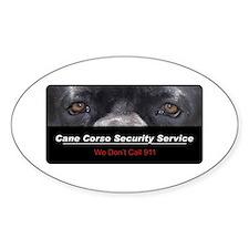 Cane Corso Security Service Decal