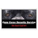 Cane Corso Security Service Sticker (Rectangle 50