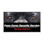 Cane Corso Security Service 38.5 x 24.5 Wall Peel