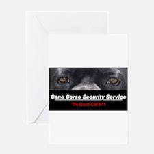 Cane Corso Security Service Greeting Card