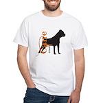 Grunge Cane Corso Silhouette White T-Shirt