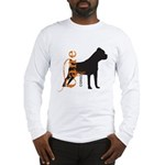 Grunge Cane Corso Silhouette Long Sleeve T-Shirt