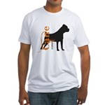 Grunge Cane Corso Silhouette Fitted T-Shirt