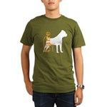 Grunge Cane Corso Silhouette Organic Men's T-Shirt