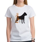Grunge Cane Corso Silhouette Women's T-Shirt