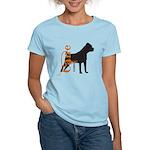 Grunge Cane Corso Silhouette Women's Light T-Shirt
