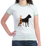 Grunge Cane Corso Silhouette Jr. Ringer T-Shirt