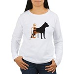 Grunge Cane Corso Silhouette Women's Long Sleeve T
