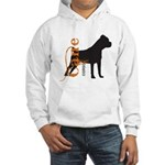 Grunge Cane Corso Silhouette Hooded Sweatshirt