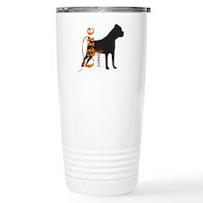 Grunge Cane Corso Silhouette Travel Mug