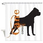 Grunge Cane Corso Silhouette Shower Curtain