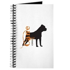 Grunge Cane Corso Silhouette Journal