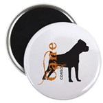 Grunge Cane Corso Silhouette Magnet