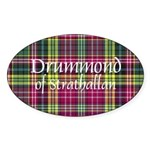 Tartan - Drummond of Strathallan Sticker (Oval 10