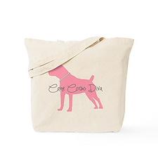 Diamonds Cane Corso Diva Tote Bag