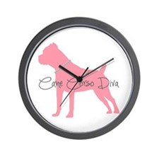 Diamonds Cane Corso Diva Wall Clock