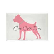 Diamonds Cane Corso Diva Rectangle Magnet