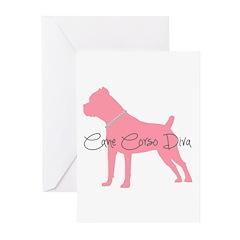 Diamonds Cane Corso Diva Greeting Cards (Pk of 10)