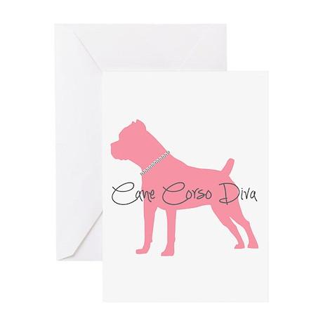 Diamonds Cane Corso Diva Greeting Card