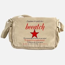 Good to be a Beeatch Messenger Bag