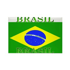 Brasil Flag Rectangle Magnet (100 pack)