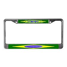 Brasil Flag License Plate Frame