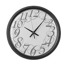 Unique Scribbl Large Wall Clock