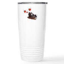 Keeshond Puppy Travel Mug