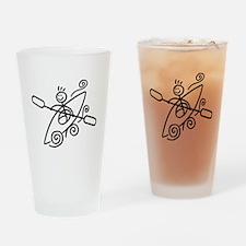 Happy Kayak Drinking Glass