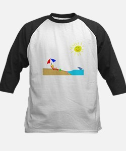Summer Beach Kids Baseball Jersey