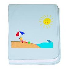 Summer Beach baby blanket