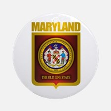 """""""Maryland Gold"""" Ornament (Round)"""