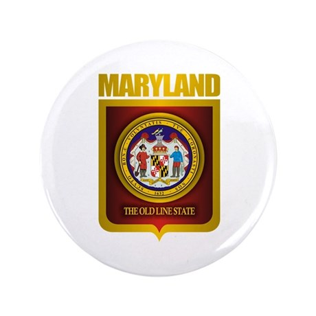 """""""Maryland Gold"""" 3.5"""" Button"""