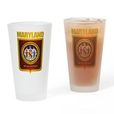 """""""Maryland Gold"""" Drinking Glass"""