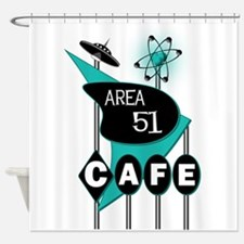 Area 51 Cafe Shower Curtain