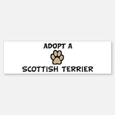 Adopt a SCOTTISH TERRIER Bumper Bumper Bumper Sticker