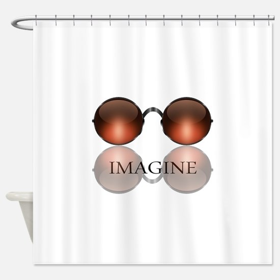 Imagine Rose Colored Glasses Shower Curtain