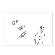 Moon Rockets Postcards (Package of 8)