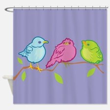 Three Birds Shower Curtain