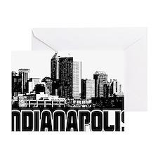 Indianapolis Skyline Greeting Card